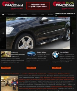 strona internetowa motopracownia legionowo